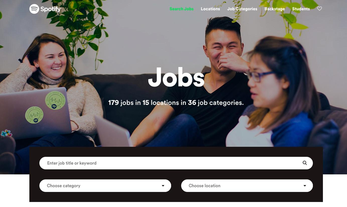 Карьерный сайт Spotify